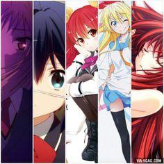 Here is five good romance anime to watch (sakurasou no pet na kanojo, Chuunibyou, Rakudai kishi no cavalry, Nisekoi and Highschool DxD)
