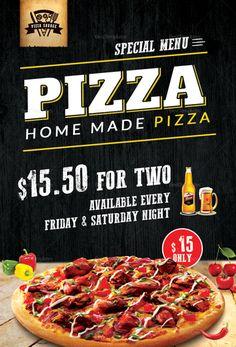 Pizza Menu Table Tent Template