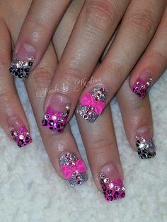 #pink #glitter #silver #leopard #bling #sparkle