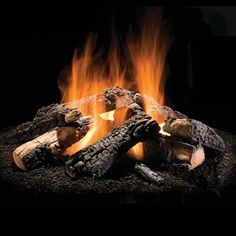 """Wilderness Charred Outdoor Gas Fire Pit Logs - 50"""" 