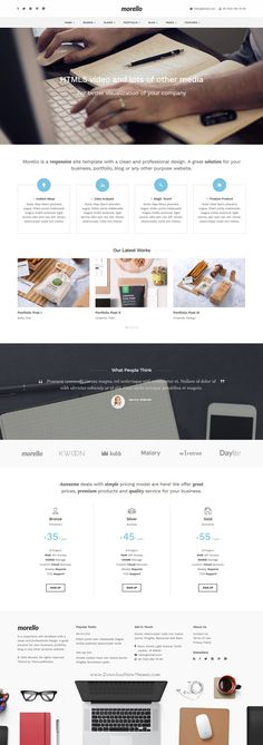 Morello is flat and responsive WordPress #theme with tons of features, built with Twitter Bootstrap to create a unique and professional #website. #business Download Now!