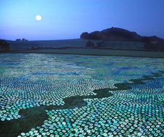 Bruce Munro's CD sea.  A million CDs laid out in one weekend.