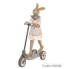 Decoratie konijn op step meisjeHele leuke decoratie, natuurlijk niet alleen voor Pasen, deze meisjes ;konijn in actie op de step.Er is ook een jongens ;konijn op ;step verkrijgbaar, leuk als set ter decoratie! ;Materiaal: Poly resinAfmeting: 12 ;x 5 x 18 cmMerk: Clayre & EefKleur: multikleurVerzending: pakketpost