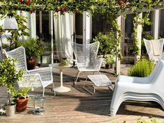 ikea gartenmöbel outdoor sessel fußhocker weiß beistelltisch