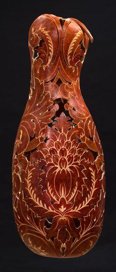 Carol Kroll_The Regal Gourd - wall sconce - 29 x 11.5 x 9 inches