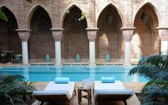 Where: La Sultana Marrakech, Morocco Why: Sitting by a pool and staring at a brick wall isn't usually that enticing. But when the wall in question is a...