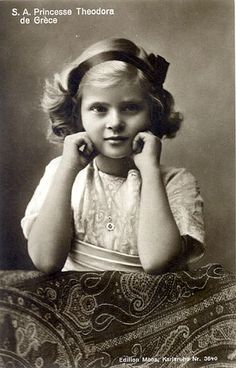 Princess Theodora of Greece and Denmark aka Theodora Margravine of Baden. - The second child and daughter of Prince Andrew of Greece and Denmark and Princess Alice of Battenberg. Sister of Prince Philip, Duke of Edinburgh. Prince Andrew, Young Prince Philip, Prince William, Elizabeth Of York, Princess Elizabeth, Alice Von Battenberg, Luis Iv, Queen Victoria Descendants, Prins Philip