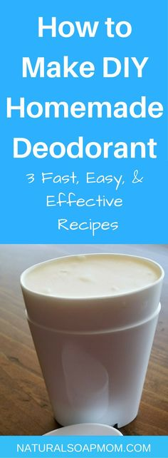 What you put on your skin is absorbed into your bloodstream. DIY Homemade Deodorant is easy to make & better for you. Learn 3 simple recipes & start today.