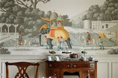 YrMural Studio - Hand painted wallpaper,Chinoiserie wallpaper,Good price with same high quality as deGournay and Fromental,Silk Wallpaper, Embroidered wallpaper