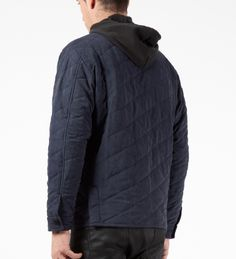 The Quiet Life Blue 3 Pocket Quilted Jacket
