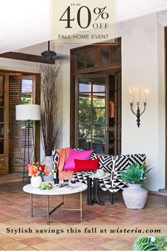 Our annual Fall Home Event is BACK! Save up to 40% on EVERYTHING - both your old favorites and our new must-haves! Go to wisteria.com today!