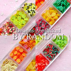 FRUIT Polymer Clay Cane Assorted Slices Mix & by MiniatureSweet