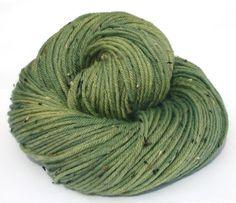 Hand dyed yarn DK superwash merino Harlequin by moonlightyarns