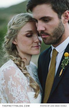 Natural bridal make-up & hair | Photography: Love Made Visible, Hair stylist: Gina Pauling, Make-up artist: Jane Field