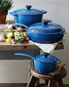 Marseille Blue from Le Creuset | Review at Old Lantern Lane by @emmechatterton