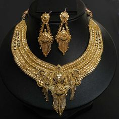 Indian gold store | Bollywood Indian Designer 22K Gold Plated Bridal Sari Jewelry Necklace ...