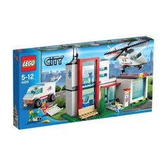 Lego City Town Helicopter Rescue Hospital Set (4429) - 100% COMPLETE - NO BOX