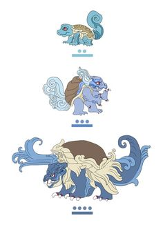 Mayan Pokemon from monarobot.tumblr.com/