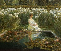 """""""Lilies"""" by Frederick Childe Hassam"""