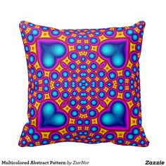 Multicolored Abstract Pattern Pillow