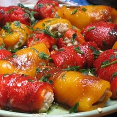 Antipasto Recipes, Veggie Recipes, Bread Recipes, Snack Recipes, Cooking Recipes, Veggie Food, Baked Peppers, Best Chef, Quick Snacks