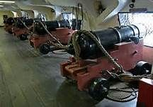 old ironsides under sail with cannons - Bing Images