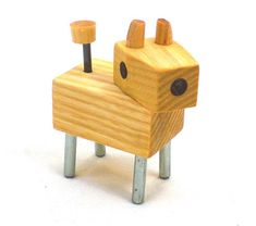 Wood Dog Toy Robot for sale Wooden Crafts, Wooden Toys, Woodworking Shop, Woodworking Projects, Woodworking Tools For Beginners, Woodworking Videos, Wooden Wand, Wood Dog, Kids Wood