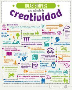 Ideas simples para estimular la creatividad #infografía vía @Belén Rojas