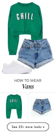 """Untitled #189"" by chica1622 on Polyvore featuring Levi's and Vans"