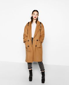 DOUBLE BREASTED PATCHES COAT-View All-OUTERWEAR-WOMAN-SALE | ZARA United States