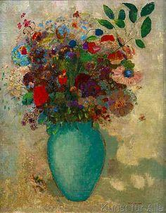 Odilon Redon - Le Grand Vase turquoise