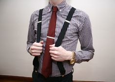 rag & bone tie, scotch & soda shirting and thrifted suspenders.