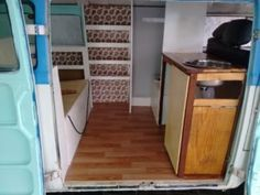 """Our van interior and photo from the article """"A raw canvas awaits the stroke of a brush"""""""