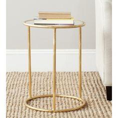 Safavieh Treasures Shay Gold/ Mirror Top Accent Table $115