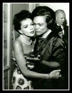 Judy Garland and Eartha Kitt