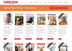 Buy issues of Teddy Bear Times magazine in print or digital format: http://www.teddybeartimes.com/issuesfromemail.html #TBT #TeddyBearTimes #magazine