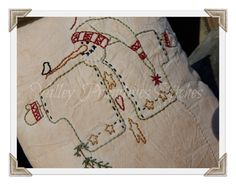 Hand Stitched Joy Snowman Pillow Christmas by valleyprimitives