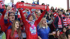 Brek Shea watches Chivas USA match with fans | FC Dallas
