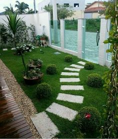 Wonderful Small Front Yard Landscaping Ideas For Enjoying Your Days - Best Interior Design Backyard Fences, Backyard Landscaping, Landscaping Ideas, Backyard Ideas, Country Landscaping, Backyard Designs, Amazing Gardens, Beautiful Gardens, Small Front Yard Landscaping