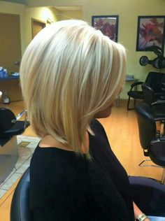 Long Bob layered with bangs