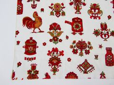 1950s Dress Fabric  Vintage 60s Kitchen Fabric