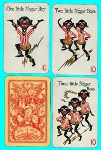 Rare Black Americana Card Game - Bobs y'r Uncle - Waddington 1935 $60.....sad this what the world percieved