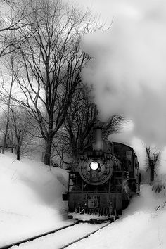 Steam train in the winter. Locomotive Diesel, Steam Locomotive, Train Tracks, Train Rides, Foto Flash, Strasburg Railroad, Old Steam Train, Train Pictures, Old Trains