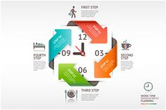 Check out Arrow Timeline Management by Graphixmania on Creative Market
