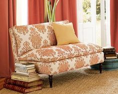 Love the pattern and colors on this couch!  Unfortunately my hubby disagrees!