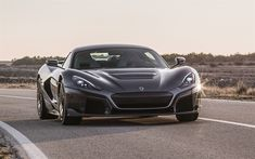 Download wallpapers Rimac C Two, 2020, gray sports coupe, supercar, exterior, Italian sports car, Rimac