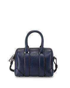 8039abec661 Givenchy Lucrezia Micro Duffel Crossbody Bag, Dark Blue