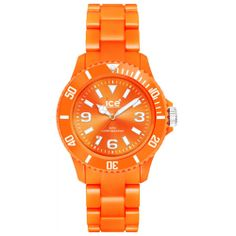 Gotta love color and for a steal of only $35! Its the Ice CSOESP10 Women's Classic Solid Small Orange Dial Orange Plastic Bracelet Watch #March #MarchMadness #Ice #watches