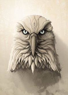 """The Eagle"" metal poster by Rafapasta CG #animal"