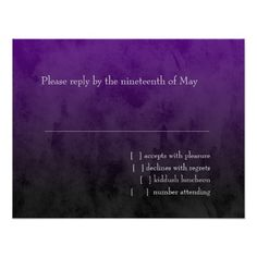 ==> reviews          Bar Mitzvah Black and Purple Grunge RSVP Card           Bar Mitzvah Black and Purple Grunge RSVP Card online after you search a lot for where to buyReview          Bar Mitzvah Black and Purple Grunge RSVP Card lowest price Fast Shipping and save your money Now!!...Cleck Hot Deals >>> http://www.zazzle.com/bar_mitzvah_black_and_purple_grunge_rsvp_card-161052413014342805?rf=238627982471231924&zbar=1&tc=terrest
